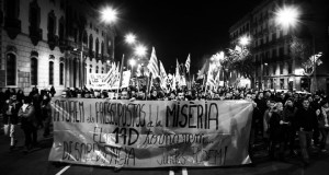 Barcelona: Protest against the budget of misery (4 December)