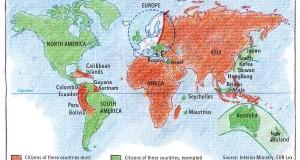Mapa de la Guerra Europea a la inmigración