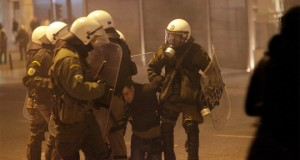 Greece: Antifa protest attacked by the Police