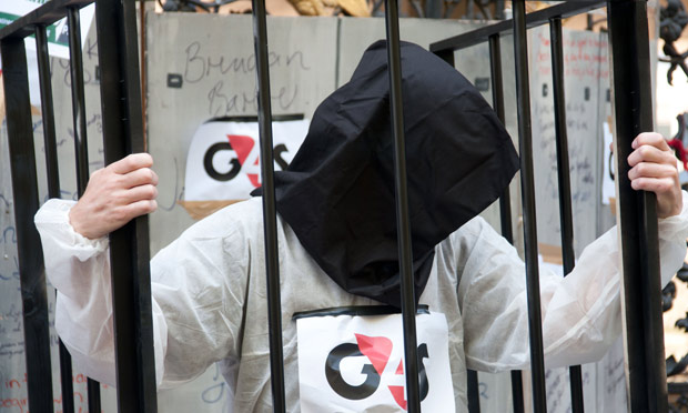 Demonstration in front of G4S, June 2013